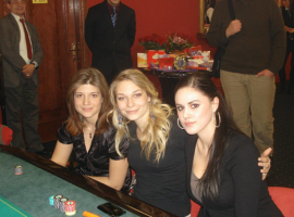 Pretty ladies at casino table