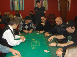 Croupier for a poker game in Zagreb casino