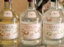 Rakija and in bottles of different taste