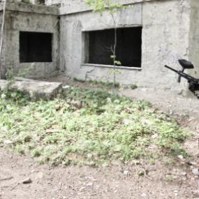 Modern outdoor paintball arena in Zagreb