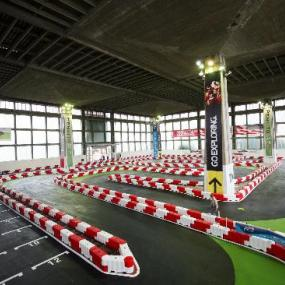 Modern indoor go-karting arena